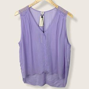 Aritzia Wilfred Usha Blouse Silk Purple Lilac Tank
